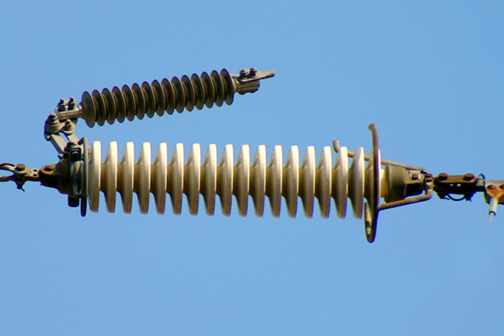 Equipment for power transmission such as line arresters that significantly contribute to reducing power outages